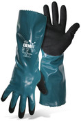 BOSS Chemfit Sandy Nitrile 12″ Liquid Proof 18G Nylon Liner Gloves, Large (12 Pair)