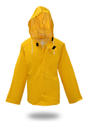 BOSS 50mm Yellow PVC Poly Lined Rain Jacket, Size Large (1 Pair)