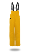 BOSS 50mm Yellow PVC Poly Lined Bib Overalls, Size 5XL (1 Pair)