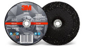 3M Silver Depressed Center Grinding Wheel, 36 Grit, 87455, T27, 4 in x 1/4 in x 3/8 in (20/Pkg.)