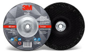 3M Silver Depressed Center Grinding Wheel, 36 Grit, 87449, T27 Quick Change, 9 in x 1/4 in x 5/8-11 (20/Pkg.)