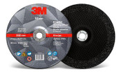3M Silver Depressed Center Grinding Wheel, 36 Grit, 87452, T27, 9 in x 1/4 in x 7/8 in (20/Pkg.)