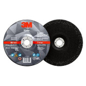 3M Silver Depressed Center Grinding Wheel, 36 Grit, 87456, T27, 4 in x 1/4 in x 5/8 in (20/Pkg.)