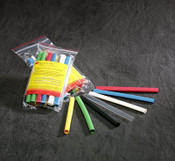 "3M Heat Shrink Thin Wall Tubing Assortment Pack FP-301-1/4-Assort Colors, 6"" Pieces, 3 Each of 7 Color, (Qty. 10 Packs)"