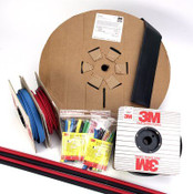3M Heat Shrink Thin-Wall Tubing FP-301-1/2-Black-100`: 100 Ft Spool Length, 300 Linear Ft/Box (Qty. 3 Rolls)