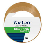 Tartan Shipping Packaging Tape 3710T, 1.88 in x 54.6 yd (48 mm x 50 m) 1.9 Mil, Tan (12 Rolls)