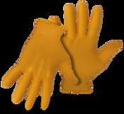 BOSS 6Mil Disposable Orange Nitrile Gloves W Diamond Grip, Medium (50/Box) (20 Boxes)