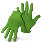 BOSS 6Mil Disposable Green Nitrile Gloves W Diamond Grip, Small (50/Box) (20 Boxes)