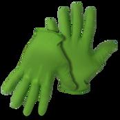 BOSS 6Mil Disposable Green Nitrile Gloves W Diamond Grip, Medium (50/Box) (20 Boxes)