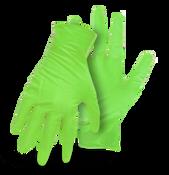 BOSS Disposable Green 7Mil No Powder Nitrile Embossed, Medium (100/Box) (10 Boxes)