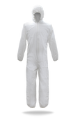 BOSS Suntech Coverall Disposable Suit w/Hood, Small (25/Case)