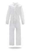 BOSS Sunlite Ultra Coverall with Collar & Open Cuffs, Large (25/Case)