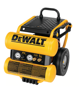 Dewalt #D55154 1.1 HP Continuous 4 Gallon Electric Wheeled Dolly-Style Air Compressor with Panel