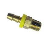 "Grip Rite #GRF14PLTB Push-Lock Hose Ends, 2-Piece, 1/4"" Body Size, 1/4"" Hose Size, Male Thread, Brass (25/Pkg.)"