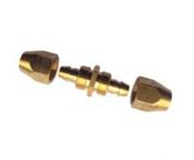 "Grip Rite #GRPU14SPLB Polyurethane Air Hose Splicer, 1/4"", Brass (25/Pkg.)"