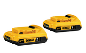 Dewalt #DCB203-2 20V Max Compact Lithium Ion Battery 2 Pack