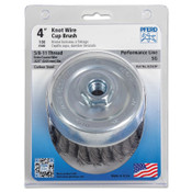 Advance Brush Standard Twist Single Row Cup Brush, 4 in Dia., 5/8-11 Arbor, .02 Carbon Steel, 2 EA, #82523P