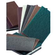 Carborundum Hand Pads, Medium, Aluminum Oxide, Brown, 40 EA, #5539574000