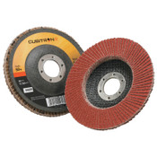 3M Cubitron II Flap Disc 967A, 4 1/2 in, 60 Grit, 7/8 in Arbor, 13,300 rpm, Type 27, 10 CA, #7000148182