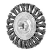 Advance Brush Full Cable Twist Knot Wheel, 4 in D x 3/8 in W, .014 in Steel Wire, 20,000 rpm, 1 EA, #82165