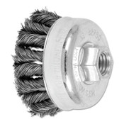 Advance Brush COMBITWIST Knot Wire Cup Brush, 2 3/4 in Dia., .014 in Carbon Steel Wire, 5 BX, #82750
