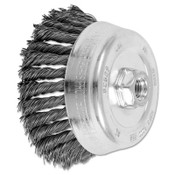 Advance Brush Standard Twist Single Row Cup Brush, 5 in Dia., 5/8-11 Arbor, .023 Carbon Steel, 1 EA, #82529