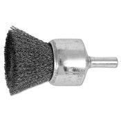"Advance Brush Standard Duty Crimped End Brushes, Carbon Steel, 20,000 rpm, 1"" x 0.006"", 1 EA, #82972"