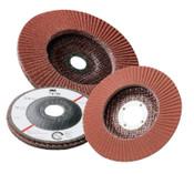 3M Abrasive Flap Discs 747D, 7 in, 36 Grit, 7/8 in Arbor, 8,600 rpm, 5 EA, #7000120374