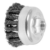 Advance Brush COMBITWIST Knot Wire Cup Brush, 2 3/4 in Dia., .02 in Carbon Steel Wire, 5 EA, #82751