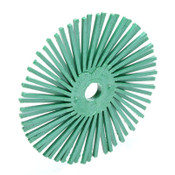 3M Scotch-Brite Radial Bristle Brushes, 3 in Dia, 3/8 in Arbor, Ceramic, 1 EA, #7100138323