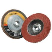 3M Cubitron II Flap Disc 967A, 4 1/2 in, 40 Grit, 13,300 rpm, Type 29, 10 CA, #7100049935