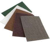CGW Abrasives Premium Non-Woven Hand Pads, Extra Coarse, Tan, 20 EA, #36286