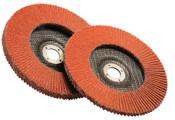 3M Flap Discs 947D, 4 1/2 in, 120 Grit, 7/8 in Arbor, 13,300 rpm, 10 CS, #7010359901