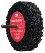 3M Scotch-Brite Clean and Strip Buffing Discs, 4 in, 8,000 rpm, Black/Gray, 1 EA, #7000120711