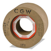 "CGW Abrasives Rubber Feed Regulating Wheels, Type 7, 12 X 8, 5"" Arbor, 80, R, 1 EA, #35303"