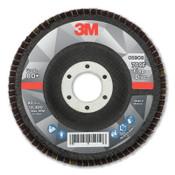 3M Flap Disc, 4.5 in x 7/8 in, 769F T29, 80+ Grit, 10 CA, #7100178028