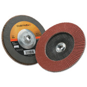 3M Cubitron II Flap Disc 967A, 7 in, 80 Grit, 5/8-11 Arbor, 8,600 rpm, Type 27, 5 CA, #7100055948