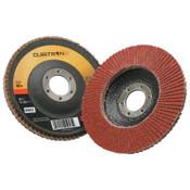 """3M Cubitron II Flap Disc 967A, 4 1/2"""", 40 Grit, 7/8"""" Arbor, 13,300 rpm, Type 29, 10 CA, #7000148187"""