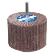 Carborundum Interleaf Flap Wheels with Mounted Steel Shanks, 2 in x 1 in, 320 Grit, 10 BX, #8834144459