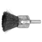 "Advance Brush Standard Duty Crimped End Brushes, Carbon Steel, 20,000 rpm, 3/4"" x 0.006"", 10 EA, #82967"