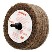 3M Scotch-Brite Buffing Discs, 4 in, 8,000 rpm, Tan, 1 EA, #7000120710