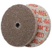3M Scotch-Brite EXL Unitized Deburring Wheel, 6A, 3X3/8, Medium, Aluminum Oxide, 1 EA, #7000000703