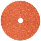 3M Cubitron II Fibre Discs 987C, Shaped Ceramic Grain, 4 1/2 in Dia., 36 Grit, 100 CA, #7000119175