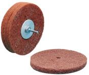 3M Scotch-Brite High Strength Discs, 6 X 1/2, 4,000 rpm, Aluminum Oxide,Very Fine, 1 EA, #7100096111