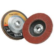 3M Cubitron II Flap Disc 967A, 4 1/2 in, 40 Grit, 13,300 rpm, Type 27, 10 CA, #7100058067