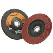 3M Cubitron II Flap Disc 967A, 7 in, 80 Grit, 7/8 in Arbor, 8,600 rpm, Type 27, 5 CA, #7000148186