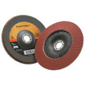3M Cubitron II Flap Disc 967A, 7 in, 60 Grit, 7/8 in Arbor, 8,600 rpm, Type 29, 5 CA, #7000148191