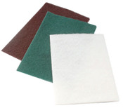 CGW Abrasives Non-Woven Hand Pads, Medium, Green, 60 EA, #36242
