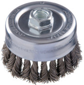 Advance Brush COMBITWIST Knot Wire Cup Brush, 4 in Dia., .023 in Carbon Steel Wire, 1 EA, #82717