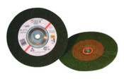 3M Green Corps Depressed Center Wheel, 7 in Dia, 1/4 in Thick, 7/8 Arbor, 24 Grit, 20 CS, #7000120224